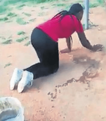 Wife Forces Her Husband's Side-chic To Do House Chores After She Caught Them Together In Her House