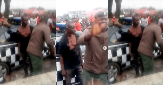Police Rescue Man From Being Lynched After He Stabbed A Girl To Death In Owerri (video)
