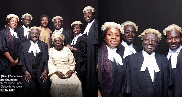Proud Nigerian Father Shows Off His Seven Children Who Are All Lawyers (Photo)