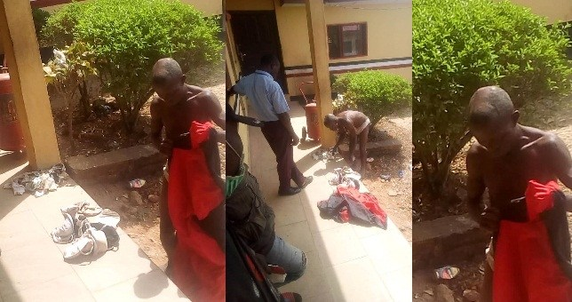 Man Caught With Female Pants And Sanitary Pad In Ondo State (Photos/Video)