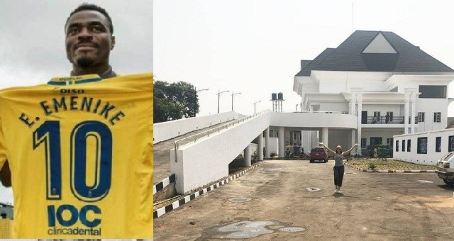 Super Eagles Player, Emmanuel Emenike, Completes His Mansion In Owerri (photos)