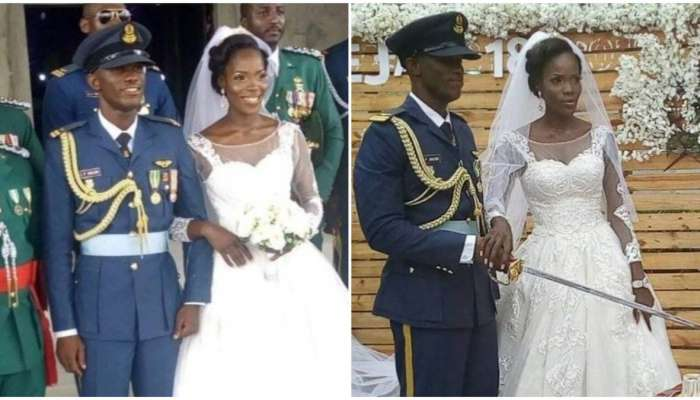 The Pilot In Command, Perowei Jacob Who Died In The Air-force Plane Crash While Fighting Boko Haram Got Married 3-weeks Ago (Photo)