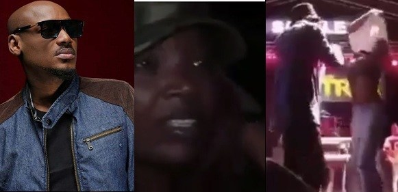Female Fan Removes Her Top To Hug Tuface On Stage, Watch Annie Idibia's Reaction