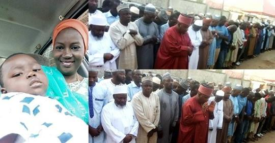 Funeral Photos Of NTA Kaduna Presenter Who Died In An Accident Alongside Her One-year-old Child
