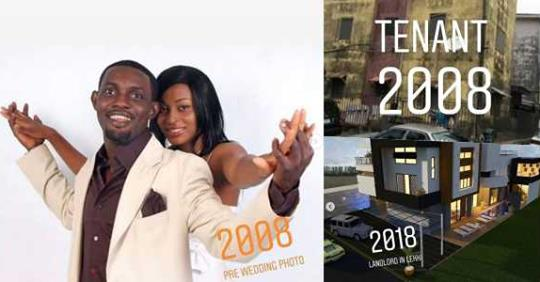 #10YearsChallenge: Comedian AY Shows His Achievements Since 2008 (Photos)