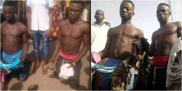 Young Men Caught With About 10 Female Pants In Delta (Photos)