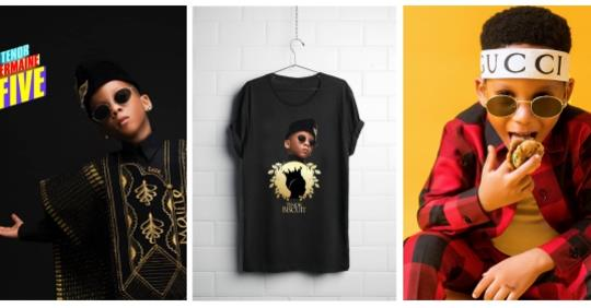 Toyin Lawani's Son LordMaine Launches Biscuit Brand And Youtube Channel As He Turns 5 (Photos)