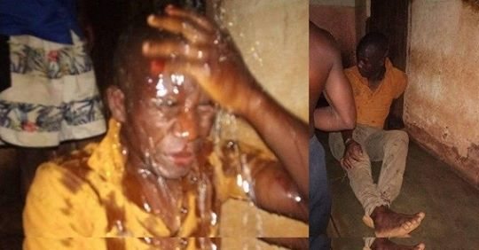 Policeman Severely Beaten After He Was Caught Sleeping With Married Lady (Photo)