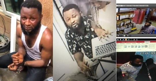 Wanted Man Who Stole 3 Laptops Nabbed At Computer Village In Lagos (Photos)