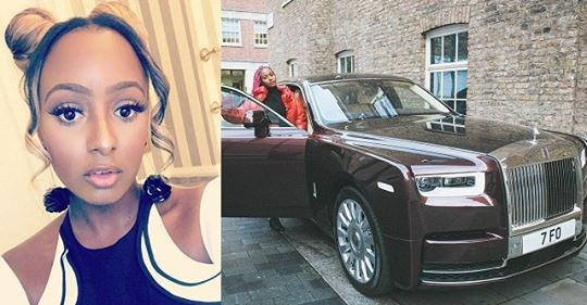 DJ Cuppy Acquires Rolls Royce Phantom (photos)