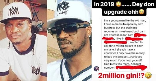 Paul Okoye Cries Out After Someone Sent Him A DM Asking For $2million To Run His Business