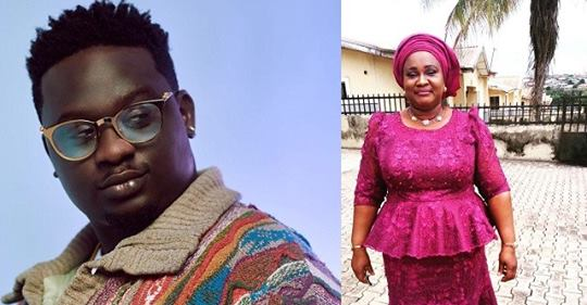 Singer, Wande Coal Shares His Mother's Photo As He Celebrates Her Birthday