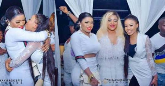Bobrisky And Nina Kiss And Makeup As They Settle Beef At Sotayo Sobola's Birthday (Photos)