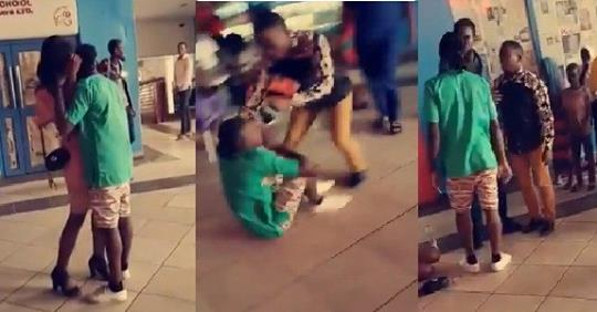 Drama As Slay Queen's Main Boyfriend Shows Up After She Accepted A Marriage Proposal From Another Guy.