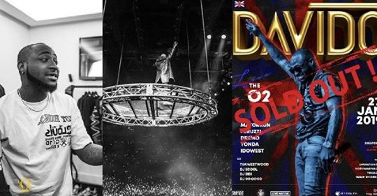 Davido Joins Drake, Rihanna, Kanye West, Elton John On The List Of Artistes, Who Have Sold Out 20,000 Capacity O2 Arena As Headliners