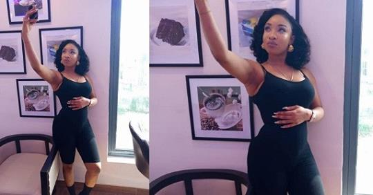 Tonto Dikeh Cradles Her Tummy Following Speculations That She's Pregnant