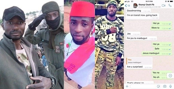 Handsome Soldier Dies Fighting Boko Haram, Last Chats With His Friend Revealed! (Screenshots)