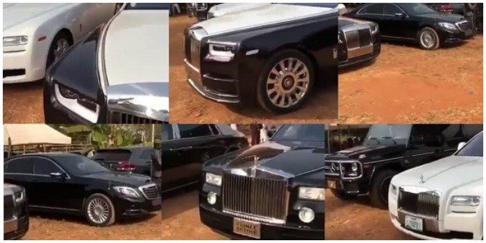Rolls Royce & Benz! Igbo Boys Storm Their Village With Exotic Cars To Celebrate Christmas (Video)