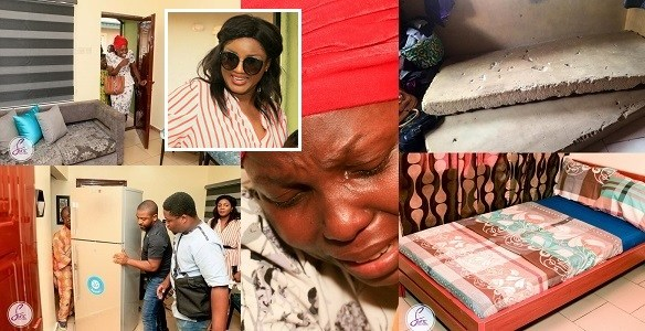 In Just 4 Days, Omotola Jalade-Ekeinde Amazingly Transforms The Home Of A Widow (photos)