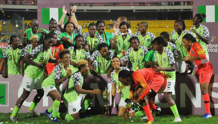Super Falcons Named African Women's Team Of The Year At 2018 CAF Awards