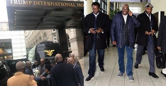 Atiku Abubakar Checks Into President Trump's Hotel In Washington (Photo)