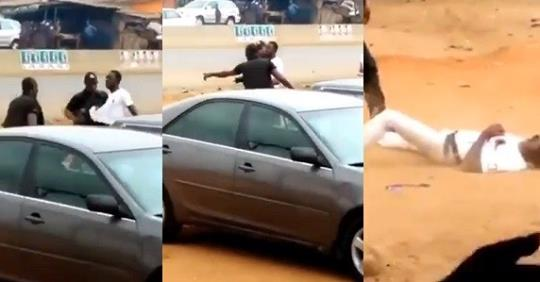 Horrific Moment Police Shot An Unarmed Man Suspected To Be A Robber Dead In Edo (Video)