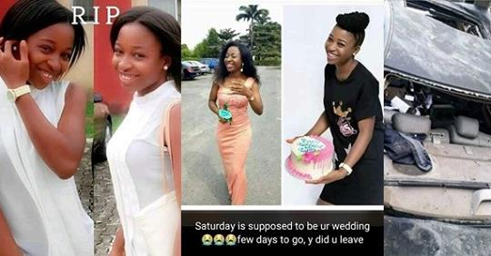 University Of Calabar Fresh Graduate Killed In Fatal Accident Few Days To Her Wedding (Photos + Video)