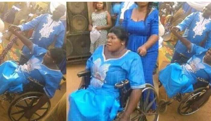 Physically Challenged Lady Weds Her Lover In Imo State
