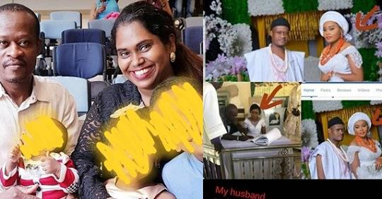 Indian Lady Accuses Her Nigerian Husband's Bank Account Manager Of Allegedly Destroying Her Home And Marrying Her Husband (Photos)