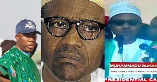 Nigerians React After Buhari Says He Was Elected Into Office In 2005 At Ekiti APC Campaign Rally (Video)