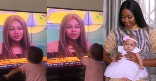 Yvonne Nelson's Daughter's Adorable Reaction After She Saw Her Mother On TV During An Interview (Video)
