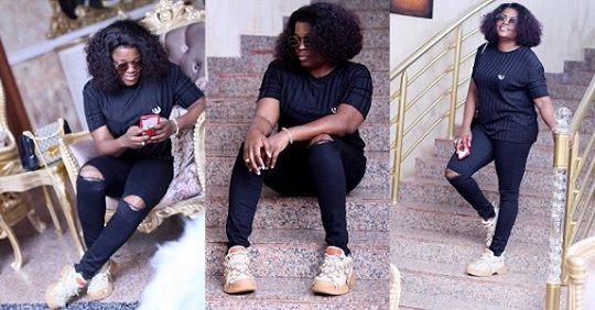 Funke Akindele Bello Shows Off Her Post-baby Body 2-month After Giving Birth To A Set Of Twin Boys (Photos/Video)