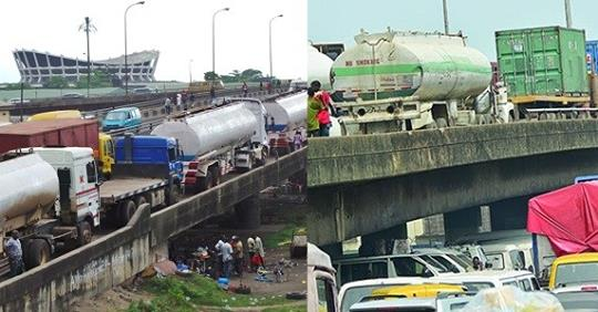 Lagosians React As Illegally Parked Tankers And Containers Mysteriously Disappear From Roads Ahead Of President Buhari's Saturday Visit
