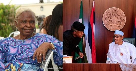 Those Saying Buhari, Osinbajo Haven't Done Anything Live In Another World – VP Yemi Osinbajo's Mother Says
