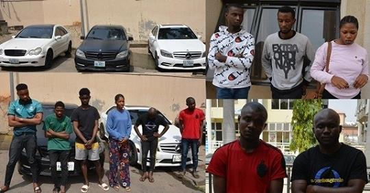 Male And Female Suspected Internet Fraudsters Apprehended In Abuja