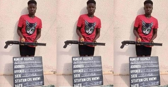 19-year Old Teenage Girl Arrested For Unlawful Possession Of A Loaded Pump Action Riffle In Anambra State