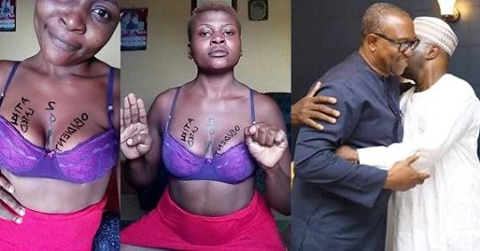Nigerian Lady Displays Her Boobs To Show Support For Atiku And Obi