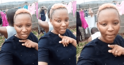 Lady Excited After Her Boyfriend Washed Her Pants And Bra