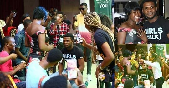 BBNaija Contestant Proposes To Girlfriend At The Lagos Audition Venue