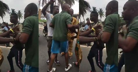 Soldier Assaults Keke Rider In Yaba For Allegedly Ignoring Him – Video