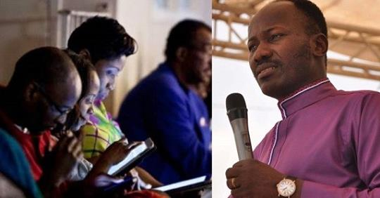 """Don't Come To Church With Phones, IPad To Read Bible"" – Apostle Suleiman Admonishes"