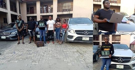 6 Yahoo Boys And Girls Arrested With Bullets In Port Harcourt, Three Exotic Cars Recovered