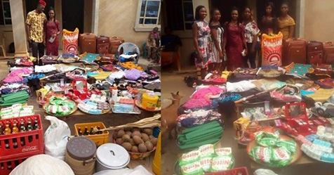 See The Large Number Of Items A Nigerian Man Was Made To Bring As Bride Price (Photos)