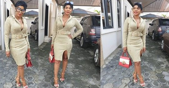 Actress, Iyabo Ojo Bares Cleavage In Thigh-revealing Outfit (Photos)