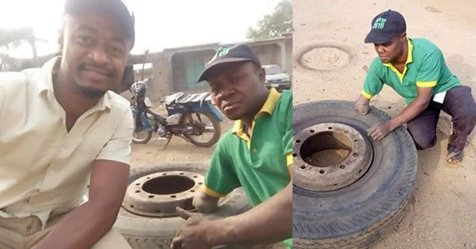 This Physically Challenged Vulcanizer In Kogi State Is Supposed To Inspire You!!