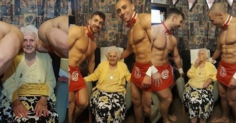 Great-great-grandmother Treated To Naked Men For Her 100th Birthday Party (Explicit Photos)