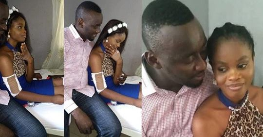 Accident Survivor Breaks Down In Tears As Lover Proposes To Her On Hospital Bed