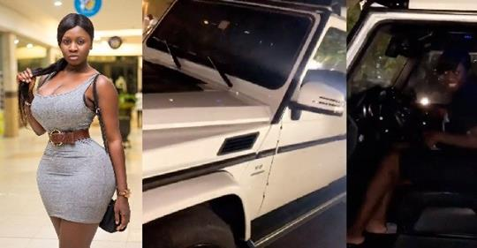 Actress Princess Shyngle Flaunts Brand New G-Wagon Her 'bae Of Life' Gave Her For Valentine (Video)
