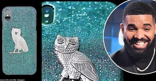 IPhone Case Made Of 18-karat Gold With Blue And White Diamonds Drake Bought For $400,000 (Photos)