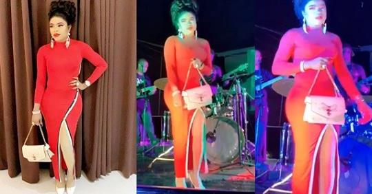 Bobrisky Dances On Stage As Live Band Sings 'Lady In Red' During Trip Sponsored By A 'billionaire' (Watch)